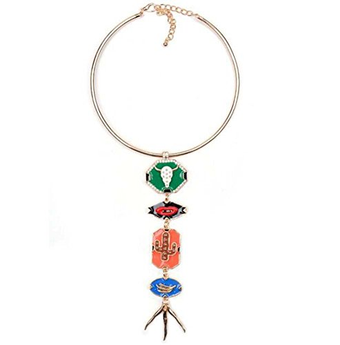 Dame einfach Geometrie Anhänger Halsband Legierung Diamant Choker Halskette Mode Kostüm Schmuck