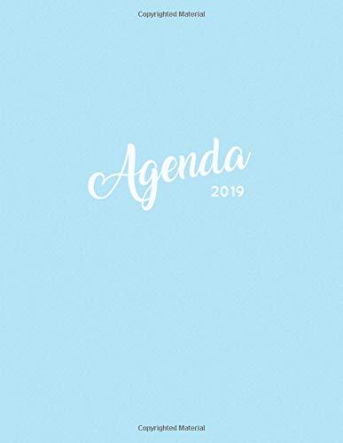 Agenda 2019: Weekly Planner Schedule Organizer and Journal Notebook | Powder Blue + Gold Hand-Lettering por Pretty Planners