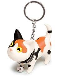Porte clés chat avec collier grelot - tacheté
