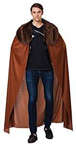 Bristol Novelty ac062Herren Cape mit Kunstpelz Kragen (One (Cape Regal Kostüme)