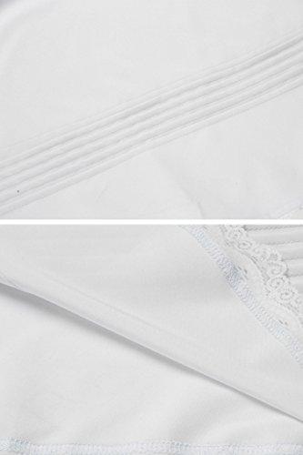EKOUAER -  Camicia da notte  - Donna Bianco