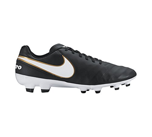 Nike Herren Tiempo Genio IL Leather FG Fußballschuhe, Grau, UK Schwarz
