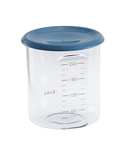 Béaba 912538 Potito de conservación 240 ml, Color Azul