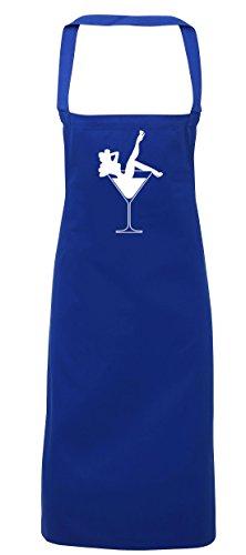 hippowarehouse Cocktail Glas Girl Schürze Küche Kochen Malerei DIY Einheitsgröße Erwachsene, königsblau, Einheitsgröße (Striptease-outfits)