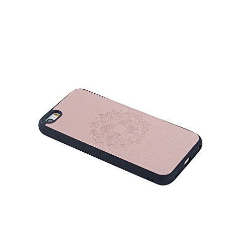 EKINHUI Case Cover Retro Backstage en forme de tournesol en peau de motif Skin Slim, Shock Absorbing Stylish Protective Bumper Case pour IPhone 5 et 5 et SE ( Color : Rose Gold ) Rose Gold