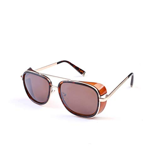 FGRYGF-eyewear Gafas de sol deportivas, gafas de sol vintage, Sun Glasses Iron Man Tony Stark Sunglasses For Men Women Vintage Steampunk Classic Steampunk Mirror SI21 1