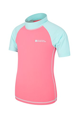 cbe0de5417c55 Mountain Warehouse Short Sleeves Kids Rash Vest - UPF50+ Sun Protection  Rash Guard, Quick Drying, Flat Seams Childrens Rash Top - for Swimming &  Under a ...