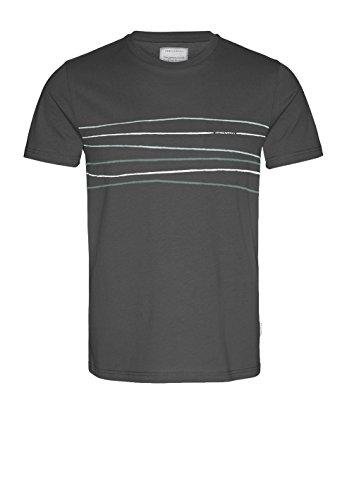 armedangels Herren T-Shirt Aus Bio-Baumwolle - James Crooked Lines - M Acid Black Fairtrade, GOTS, Organic, CERES-008 (Bio-kleidung Männer)