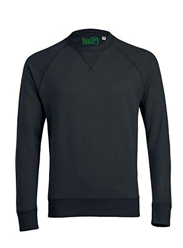 Herren Sweatshirt aus Bio-Baumwolle Mix mit 85% Baumwolle und 15% Polyester, Herren Bio Pullover, Pullover Bio, Herren Bio Sweatshirt,Sweatshirt Baumwolle (Bio) Schwarz