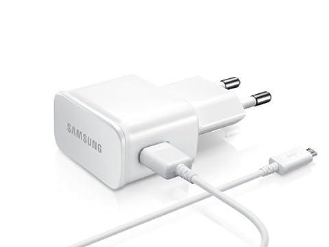 Samsung Ladegerät ETA-U90 plus Micro USB Kabel ECB-4DU4AWE - 2 Ampere - Farbe Weiß