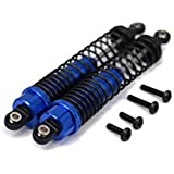 RCAWD amortiguador de amortiguador 511168 110mm Aluminio de aleación mecanizada para Rc Hobby modelo de coche 1/10 FS Carreras de camiones Buggy 53633 actualizado Hop-Up piezas 2Pcs(azul marino)