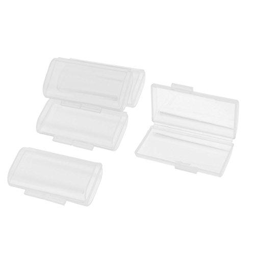 Sourcingmap 5 Pcs Plastique Transparent Boite De Rangement Etui pour 2 x Piles AAA