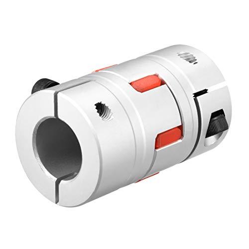 sourcing map Wellen Kupplung Flexible Koppler für Servomotor 20mm bis 20mm Bohrung L66xD40 DE de