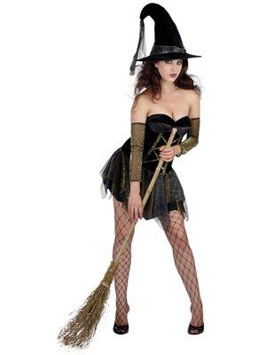 Kostüm superluxe Halloween Hexe Sexy witch (Hokus Kostüme Pokus)