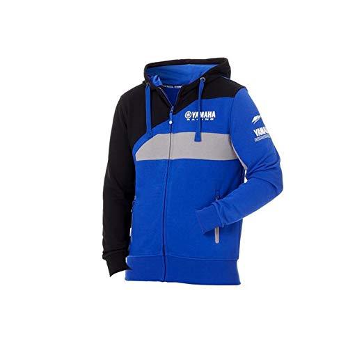 Felpa YAMAHA Paddock uomo blue con zip 2018