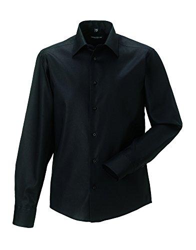 Z958 Bügelfreies tailliertes Hemd Langarm Black