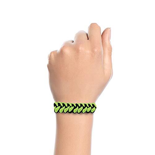 Imagen de pulseras de supervivencia de cuerda paracord negra y verde  alternativa