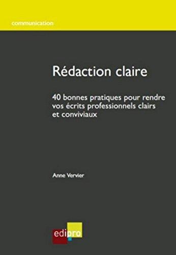 Rédaction claire par Anne Vervier