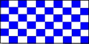 ck blau und weiß Flagge 5ft x 3ft (100% Polyester) mit Ösen zum Aufhängen (Blaue Flagge Mit Weißem X)