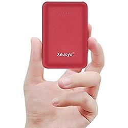 Xnuoyo Mini Portátil Power Banks 10000mAh Batería Externa del Cargador con el Tipo-C Entrada (Rojo)