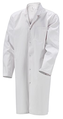 Herren Laborkittel unisize 2te Wahl Baumwolle weiß Labor Kittel Mantel S-XXL (XS, Weiß)
