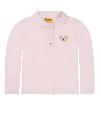 Steiff Unisex - Baby Poloshirt 0006893 1/1 Arm, Einfarbig, Gr. 74, Rosa (Barely Pink)