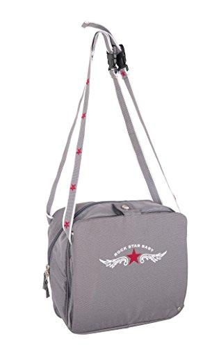roba Boostersitz Rock Star Baby in grau, mobiler und aufblasbarer Kindersitz als Reisesitz und Sitzerhöhung, ideal als Hochstuhl für unterwegs für Babys und Kleinkinder - 2