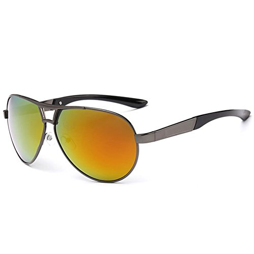 O-C Men's Women's stylish outdoor driving fishing mirrored sunglasses TAC UV 400 polarized 65mm