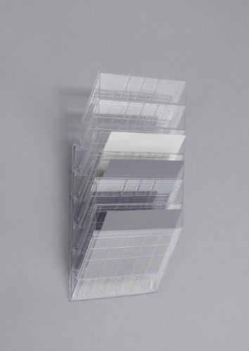 Durable 1709785400 Flexiboxx Prospektspender (6 A4 Querformat) transparent
