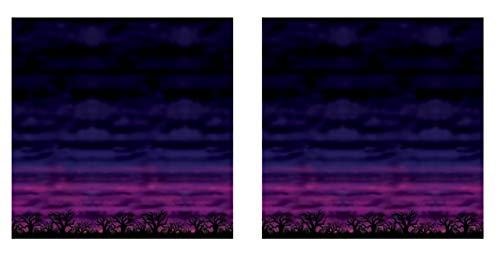 ntergrund Gruseliger Himmel, mehrfarbig, 122 x 76 cm ()