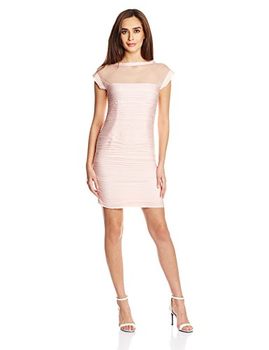Mysterious Miss Women's Cotton Body Con Dress (MQ11501132_Blush_Large)