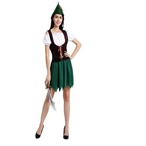 Girl Jäger Kostüm - WHFDRHWSJFZ SportingGoods Prom Halloween Skelett KostümHalloween Kostüm Jäger Cosplay Halloween Kostüm, Einheitsgröße