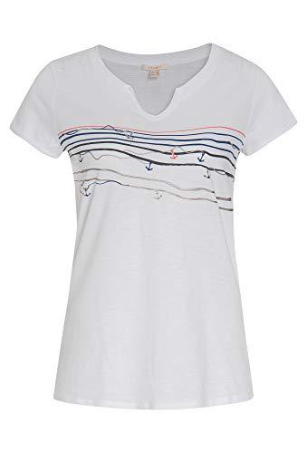 ESPRIT Slub Jersey T-Shirt mit Streifenmuster -