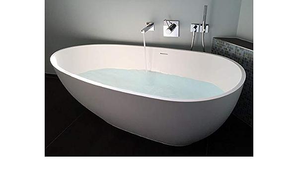 Vasca Da Bagno Autoportante In Ghisa Minerale Ovale Bianco Con Valvola Di Scarico E Sifone 169 X 85 Modello Luino Opaco Amazon It Fai Da Te