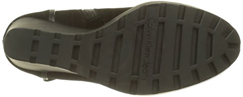 Calvin Klein Damen Severine Suede/Nappa Chukka Boots Schwarz (Blk)