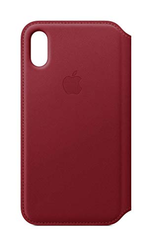 Apple Custodia folio in pelle (per iPhone XS) - Rosso