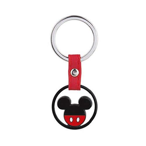 Vialemagico disney topolino portachiavi original bomboniere compleanno rosso nero (kit 12 pz)