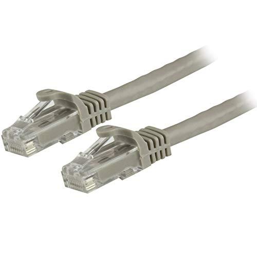 StarTech.com 10m Cat6 Gigabit Snagless Patchkabel - RJ45 UTP Netzwerkkabel mit Schutzmanschette - Cat 6 Kabel - Grau -