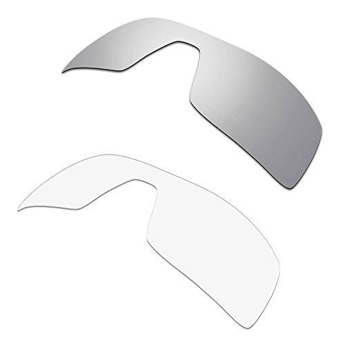 HKUCO Plus Replacement Lenses For Oakley Oil Rig Sunglasses Silver/Transparent Polarized