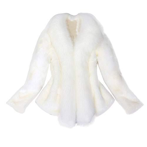 iHENGH Vorweihnachtliche Karnevalsaktion Damen Herbst Winter Bequem Mantel Lässig Mode Jacke Frauen Kunstpelz Mantel Elegante Dicke Warme Oberbekleidung Gefälschte ()