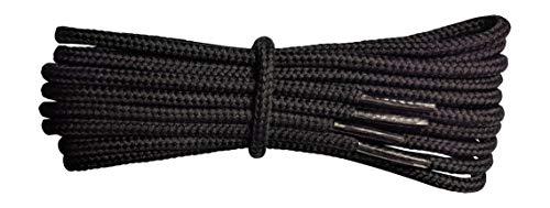 Fabmania Lacci Neri per stivali- 4 mm rotondo- ideale per scarpe da trekking e trekking - Dr Martens - Lunghezze da 90 a 240 cm - fatto in Inghilterra
