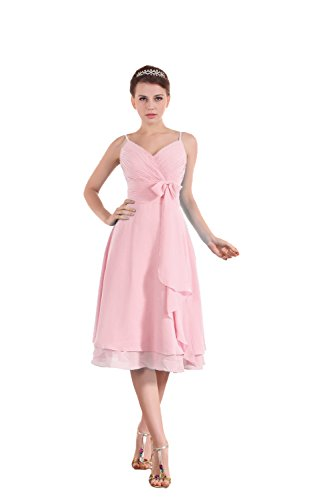 Bridal_Mall - Robe - Sans Manche - Femme Rose - Rose