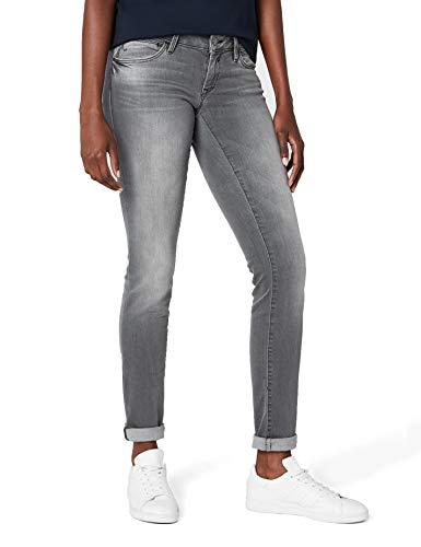 Mavi Damen Slim Jeans (schmales Bein) Lindy, Grau (Grey Glam 22486), W32/L34 (Herstellergröße: 32/34)