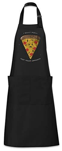 Urban Backwoods I Want Pizza Grillschürze Kochschürze