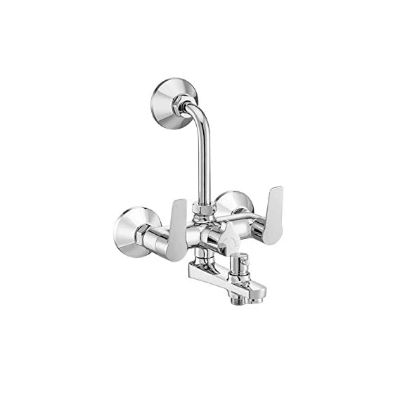 Asian Paints Bathsense Theta Wall Mixer with Hand Shower, Over Head Shower and Spout