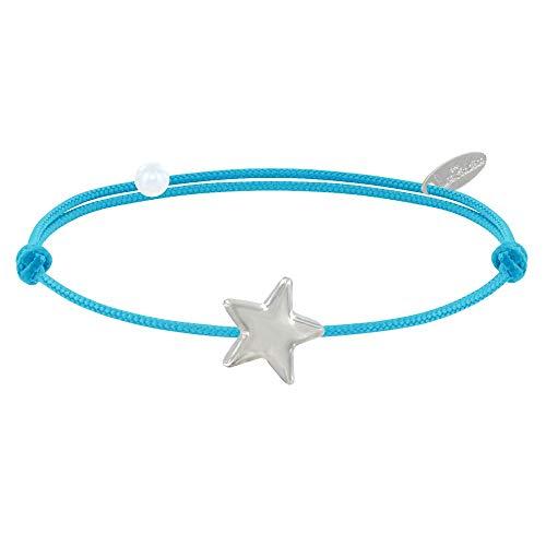 d184c0d00cca Joyas Les Poulettes - Pulsera Enlace Estrella de Plata - Colors - Turquesa