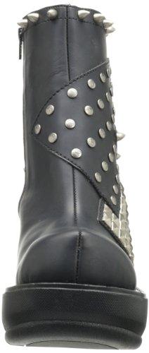 Demonia Sinister-64 Damen Kurzschaft Stiefel Schwarz (Schwarz (Blk Vegan Leather))