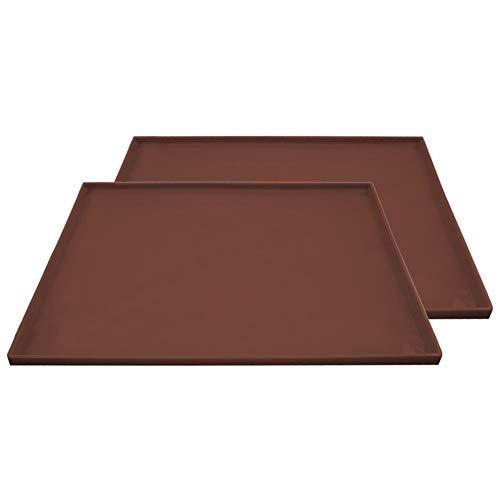 Descripción del producto:   Presupuesto:   Peso: 136 g / pieza   Tamaño: 26 cm * 31 cm * 0.9 cm / 10.24 * 12.20 * 0.35 in   Color marrón   Característica:   -La esterilla para hornear se puede utilizar en todo tipo de hornos, excepto en hornos de ...