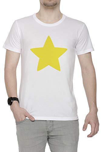 es Star Herren T-Shirt Rundhals Weiß Kurzarm Größe S Men's White T-Shirt Small Size S ()