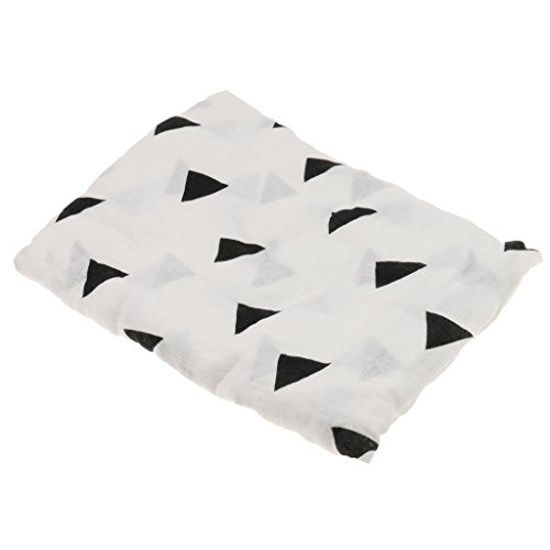 Generic 1PC Soft 100 Muslin Cotton swaddle Baby Blanket Sleeping Blanket 110*110CM - Triangle